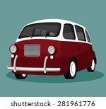 vector illustration of a retro... | Shutterstock .eps vector #281961776