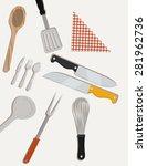 vegan design over white... | Shutterstock .eps vector #281962736