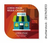 building shop store flat icon... | Shutterstock .eps vector #281965853