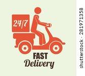 delivery design over white... | Shutterstock .eps vector #281971358