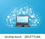 the concept of social network... | Shutterstock . vector #281975186