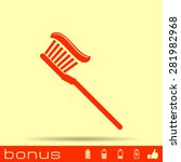 toothbrush icon  | Shutterstock . vector #281982968