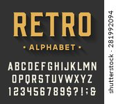 retro alphabet vector font.... | Shutterstock .eps vector #281992094