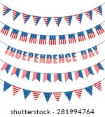 usa bunting decoration | Shutterstock .eps vector #281994764