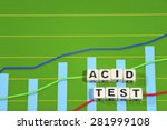 Small photo of Business Term with Climbing Chart / Graph - Acid Test