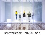 mannequins in fashion shop... | Shutterstock . vector #282001556
