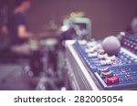 audio mixer  music equipment | Shutterstock . vector #282005054