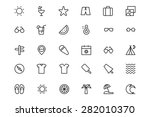 Summer And Beach Line Icons 1