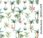 Watercolor Tropical Pattern ...