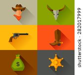 wild west cowboy objects and...