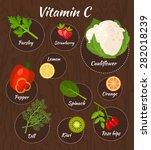infographic set of vitamin c... | Shutterstock .eps vector #282018239