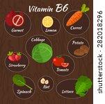 infographic set of vitamin b6...   Shutterstock .eps vector #282018296