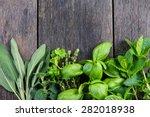 Fresh Herbs From Garden   On...