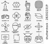 set of vector linear icons of... | Shutterstock .eps vector #282022319