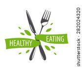 vector logo fork and knife for... | Shutterstock .eps vector #282024320
