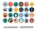 Flat Halloween Vector Icons 1
