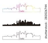 cadiz skyline linear style with ... | Shutterstock .eps vector #282026744