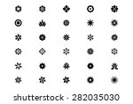 flowers or floral vector icons 1 | Shutterstock .eps vector #282035030