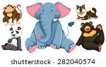 group of adorable animals... | Shutterstock .eps vector #282040574