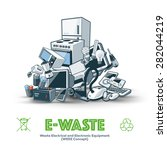 the waste electrical and... | Shutterstock .eps vector #282044219