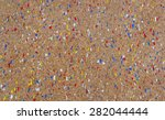 Cork Background With Colorful...