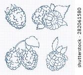 vector illustration in doodle... | Shutterstock .eps vector #282061580