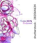 watercolor flowers | Shutterstock .eps vector #282064634