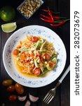 Famous Thai Food  Papaya Salad  ...