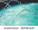 splashing fountain reflecting... | Shutterstock . vector #282081620
