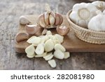 Sliced Garlic  Garlic Clove ...