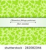 Seamless Foliage Pattern Leaf...