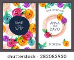 vector card template with... | Shutterstock .eps vector #282083930