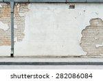 aged street wall background | Shutterstock . vector #282086084