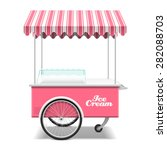 ice cream cart vector... | Shutterstock .eps vector #282088703