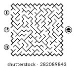 find way across labyrinth to... | Shutterstock .eps vector #282089843