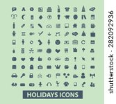 holidays  events  party icons ... | Shutterstock .eps vector #282092936