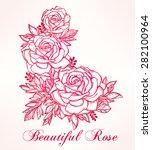 vintage floral highly detailed... | Shutterstock .eps vector #282100964