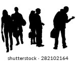 big crowds people on white... | Shutterstock .eps vector #282102164