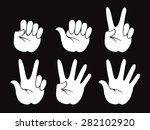 set of vector human hand ... | Shutterstock .eps vector #282102920
