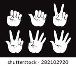 set of vector human hand ... | Shutterstock .eps vector #282102920