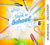 back to school   school... | Shutterstock .eps vector #282103409