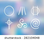 vector hand drawn symbols of... | Shutterstock .eps vector #282104048