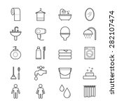 bathroom and toilet icons line | Shutterstock .eps vector #282107474