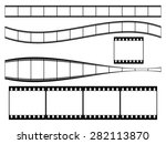 35 mm film strip set | Shutterstock .eps vector #282113870