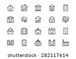 buildings and furniture line... | Shutterstock .eps vector #282117614