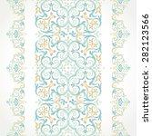vector ornate seamless border... | Shutterstock .eps vector #282123566