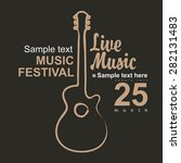 vector poster for a concert...   Shutterstock .eps vector #282131483