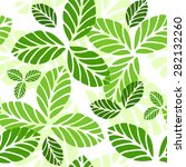 seamless pattern with green... | Shutterstock . vector #282132260