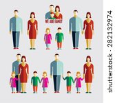 people flat icons. family flat... | Shutterstock .eps vector #282132974