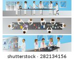 medical scientists   laboratory ... | Shutterstock .eps vector #282134156